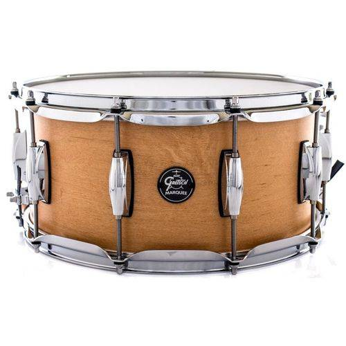 Caixa Gretsch Marquee Maple Series Satin Natural 14x6,5¨ Casco Top e Aros Powerhoop 2.3mm