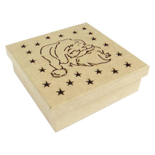 Caixa Laser Papai Noel em MDF