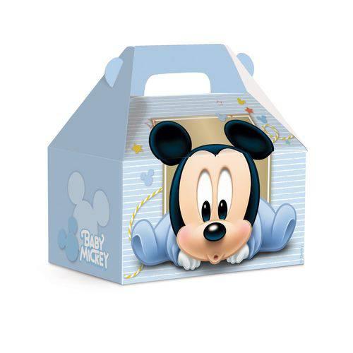 Caixa Maleta Kids Surpresa Mickey Disney Azul C/10