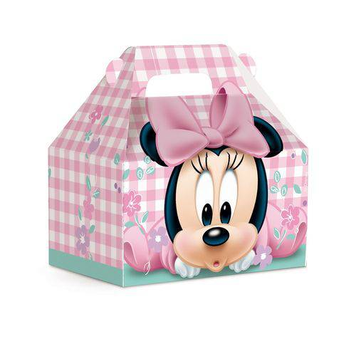 Caixa Maleta Kids Surpresa Minnie Disney Rosa C/10