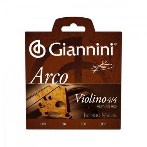 Encordoamento para Violino Geavva Série Arco Aço Médio Giann