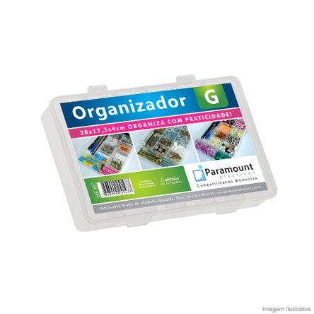 Caixa Organizadora Grande 28x17,5x4cm Translucido Paramount Plásticos