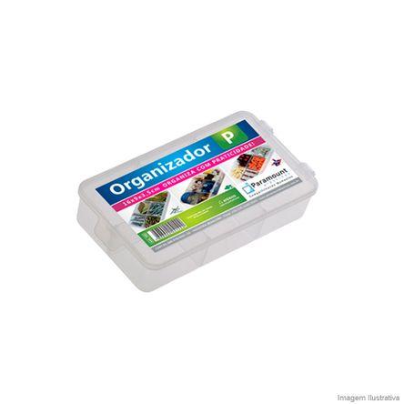 Caixa Organizadora Pequena 16x9x3,5cm Translucido Paramount Plásticos
