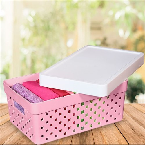 Caixa Organizadora Quadratta Paramount Rosa Rosa