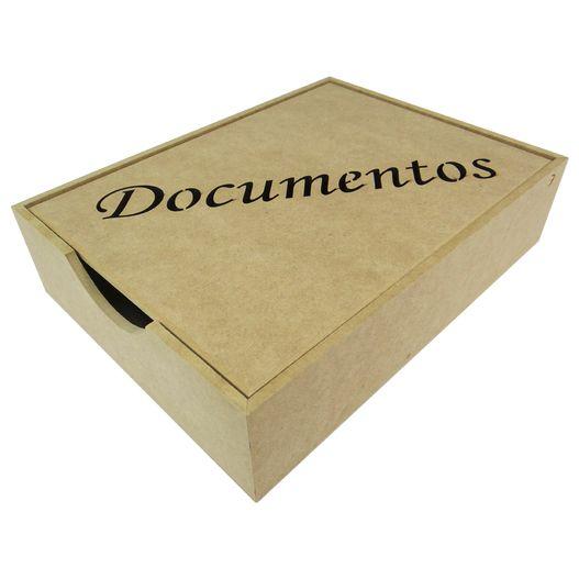 Caixa para Documentos com Tampa Laser