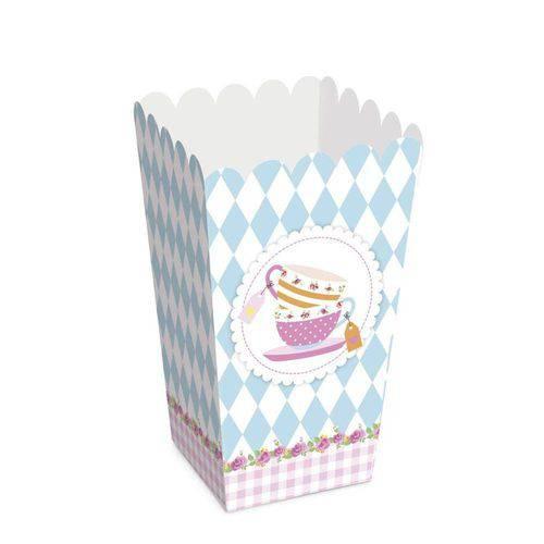 Caixa para Pipoca Chá para Meninas 10 Unidades Cromus