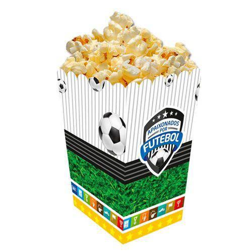 Caixa para Pipoca Futebol 8 Unidades Festcolor