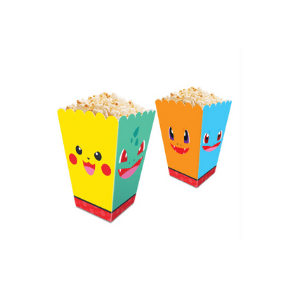 Caixa para Pipoca Pocket Monsters C/ 8un Junco