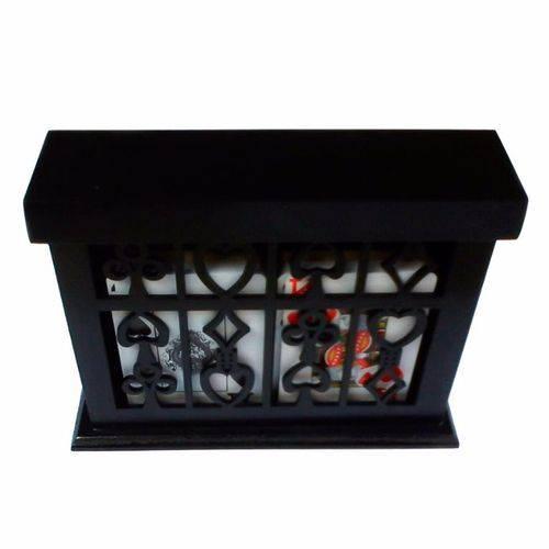 Caixa Porta Baralho Decorativo Preto