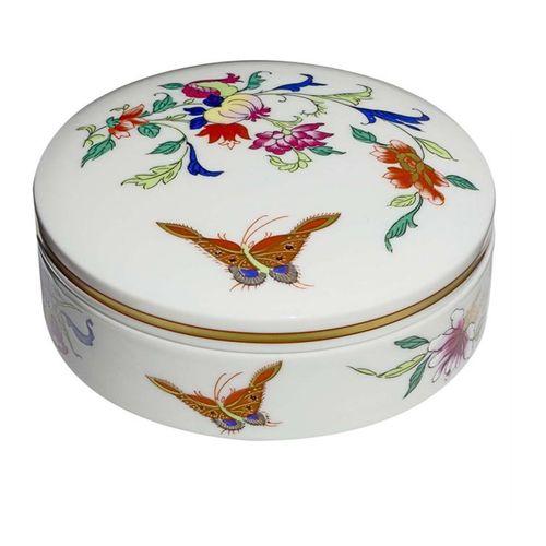 Caixa Regaleira Redonda em Porcelana Samatra 9,5x4,5cm - Samatra - Vista Alegre