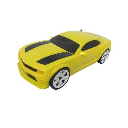 Caixa Som Portátil Carro Camaro Entrada P2 Pen Usb Cartão Sd Amarelo
