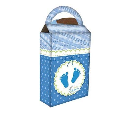 Caixa Surpresa Baby Shower Azul 08 Unidades