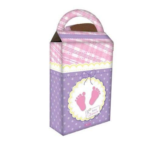 Caixa Surpresa Baby Shower Rosa 08 Unidades