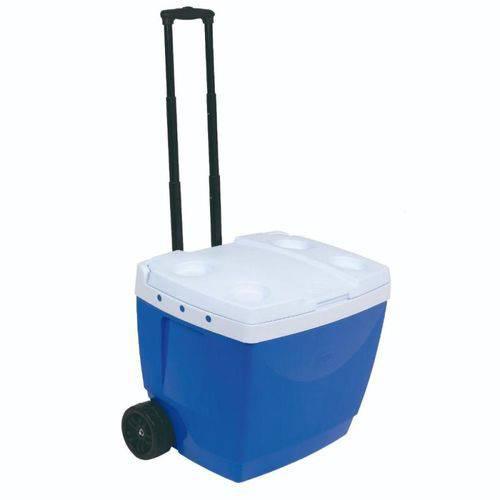 Caixa Térmica 42 Litros com Rodas e Alça Azul MOR