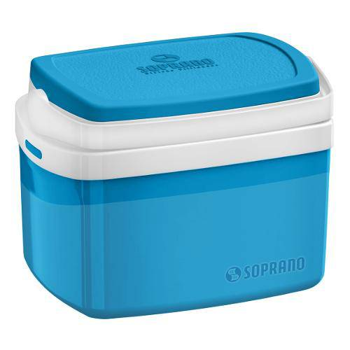 Caixa Térmica 5 Litros Azul - Soprano