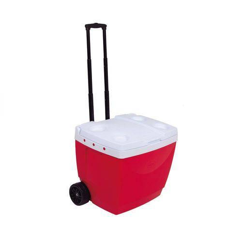 Caixa Térmica com Alça e Rodinhas 42L Vermelha Mor