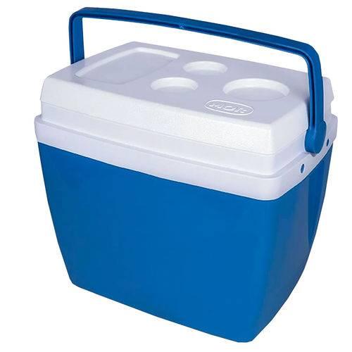 Caixa Térmica Cor Azul com Alça 26 Litros Mor