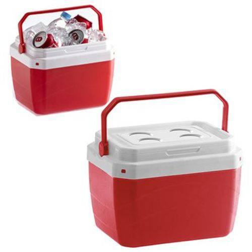 Caixa Termica de Plastico Vermelha 17 Litros 39,5x31x25,5cm
