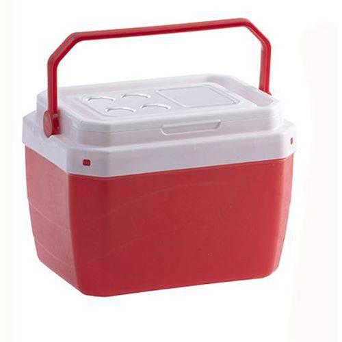 Caixa Termica de Plastico Vermelho 40 Litros 50,5x41x37cm