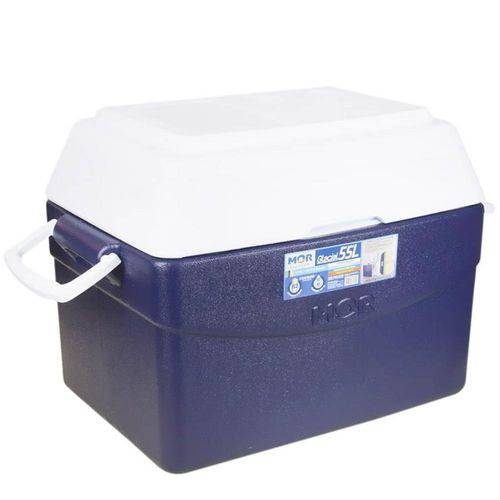 Caixa Térmica Glacial 55 Litros Azul - 25108141 - Mor