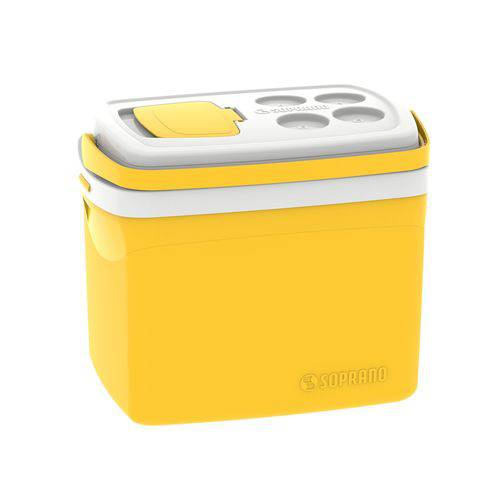 Caixa Térmica 32 Litros Tropical Soprano Amarela