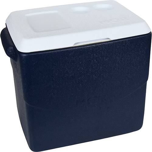 Caixa Térmica Metalúrgica Mor Glacial 40L Azul