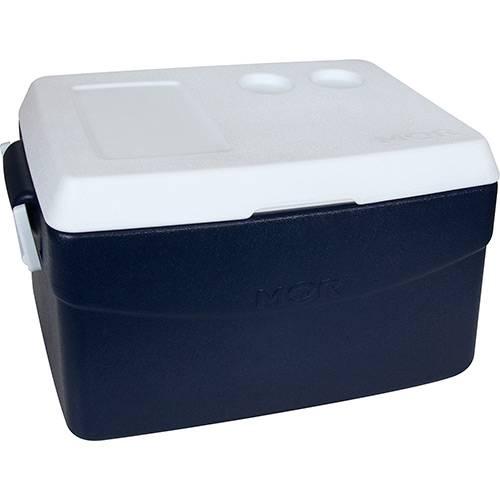 Caixa Térmica Metalúrgica Mor Glacial 48L Azul