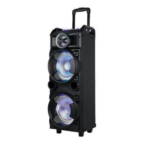 Caixa Torre Amplificada Multiuso Usb/sd/fm e Bluetooth, Acompanha 1 Microfonecom Fio, com Bateria In