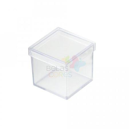 Caixinha de Acrílico 4cm X 4cm Transparente - 50 Unidades