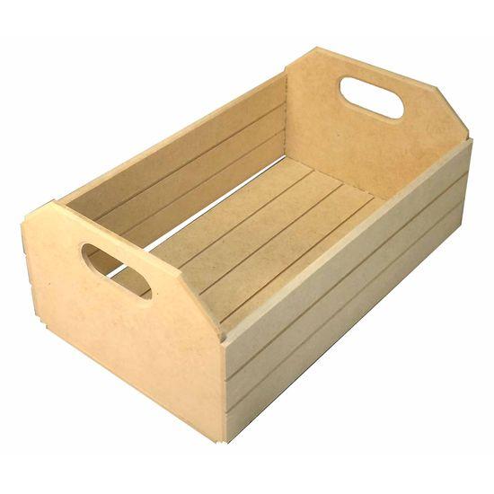 Caixote Miniatura Riscado Medio - MDF