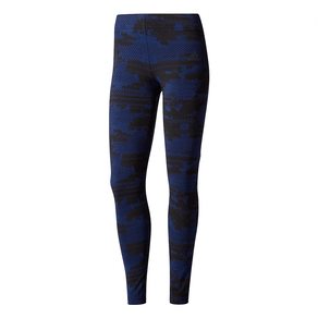 Calca Adidas Legging Aop 2 Azul Feminina PP