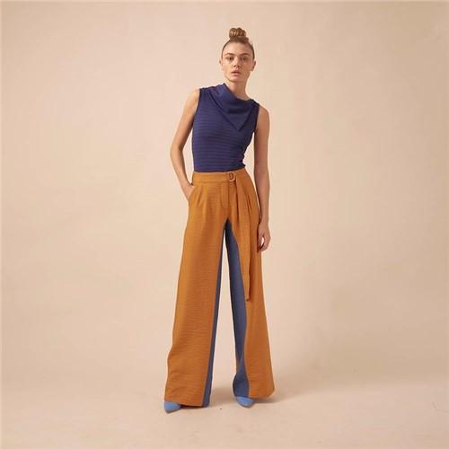 Calça Ateliê + Lucas Magalhães - Pantalona Bicolor - 38