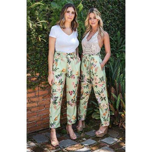 Calça Ateliê + Mimo em Flor - Alfaiataria Verde - 34