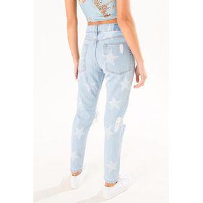 Calca Boy Laser Estrelas Jeans - 40