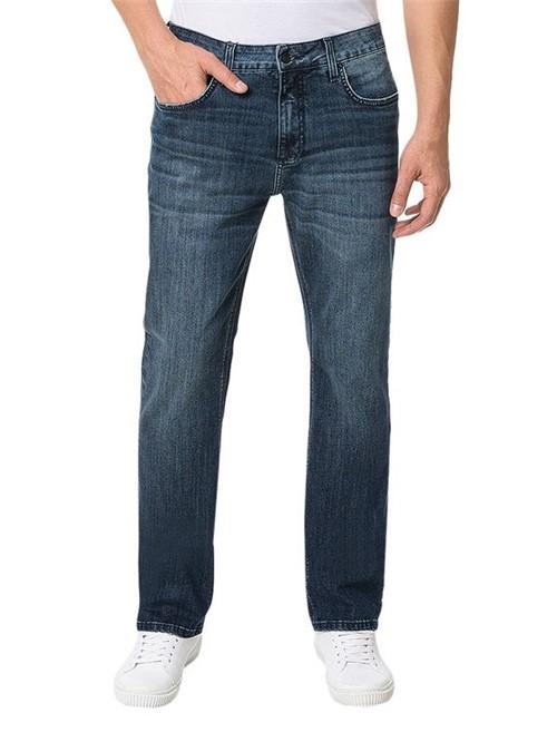 Calça Calvin Klein Jeans 5 Pockets Relaxed Straight Marinho - 40
