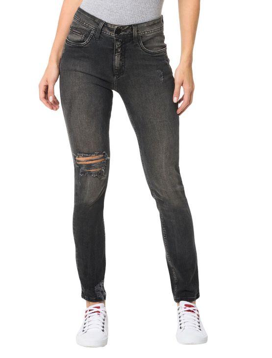 Calça Calvin Klein Jeans 5 Pockets Sp High Preto - 34