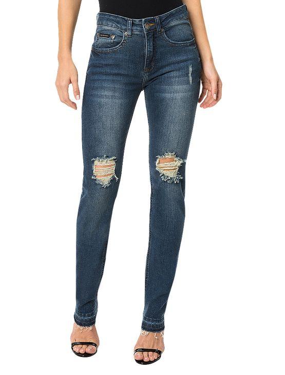 Calça Calvin Klein Jeans Five Pockets Skinny High Azul Marinho - 34