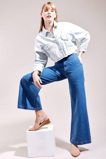 Calca Cantão Jeans a Pantalona Pences