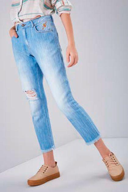 Calça Cantão Jeans B. Boyfriend Maracatu - Azul