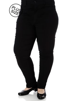 Calça Casual Plus Size Feminina Preto