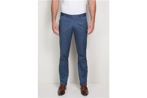 Calça Chino Alfaiataria Algodão Elastano - Azul - 42