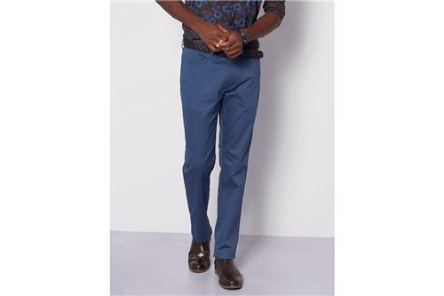 Calça Chino Estampada - Azul - 46