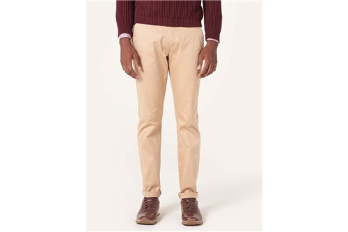 Calça Chino Social Stretch - Cru - 38