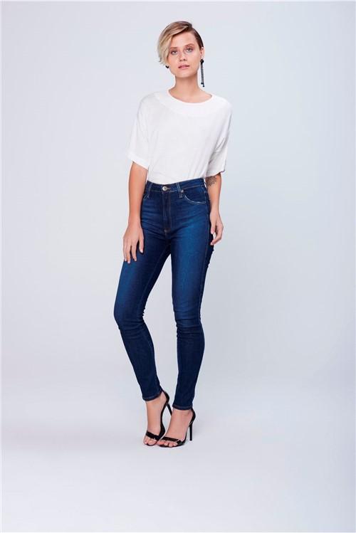 Calça Cigarrete Jeans Cintura Super Alta