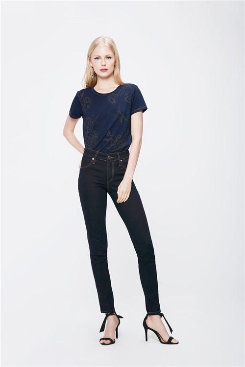 Calça Cigarrete Jeans Escuro Feminina