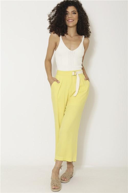 Calça Cinto Rustic - Amarelo Tamanho: P