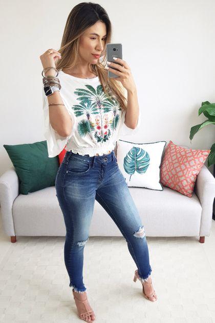 Calça Colcci Jeans Fátima - Azul