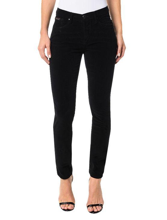 Calça Color Calvin Klein Jeans Five Pockets Jegging High Preto - 34