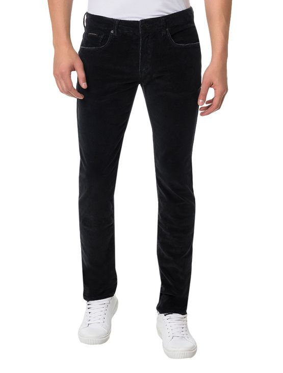Calça Color Calvin Klein Jeans Skinny Five Pockets Preto - 46