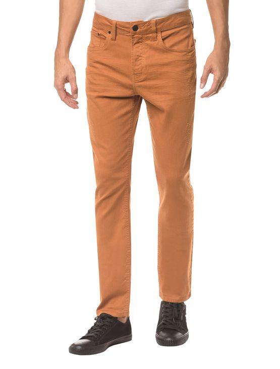 Calça Color Five Pockets Slim - Havana - 36